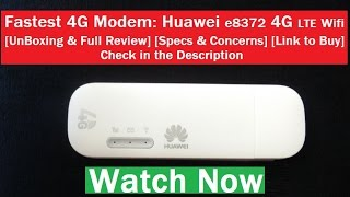 Huawei E8372 4G LTE Wifi Dongle [Unlocked] [Unboxing & Review] [2017]