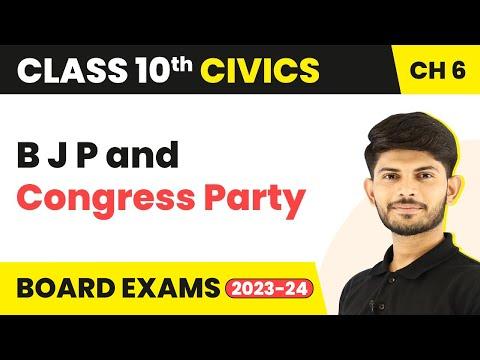 Bharatiya Janata Party And Congress Party  | Political Parties | Civics | Class 10th | In Hindi