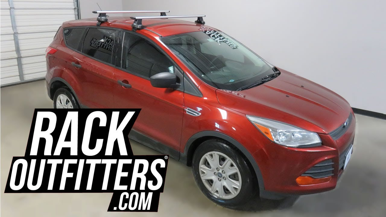 2017 2016 Ford Escape With Thule Rapid Traverse Aeroblade Roof Rack Crossbars
