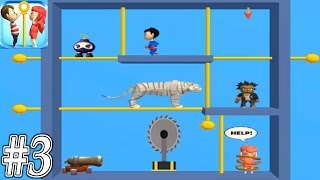Pin Rescue - Pull The Pin - Gameplay Walkthrough Part 3 Levels 81-110 (ios,Android)