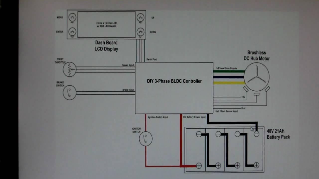 Bldc Motor Circuit Diagram Yamaha 135lc Wiring Home Made Hub Controller Project Ev