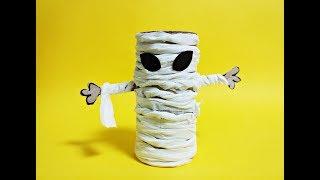 휴지심 미라 종이접기 할로윈데이 괴물유령 장식만들기 Easy origami Mummy-Halloween Ghost Monster