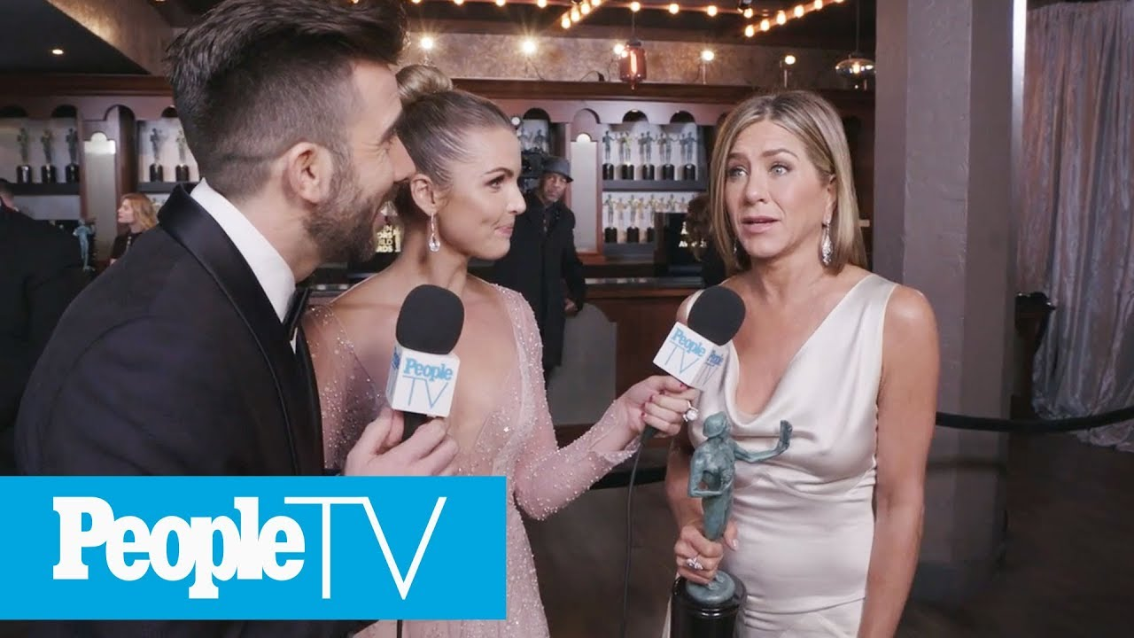 Jennifer Aniston On Forgetting 'Morning Show' Cast During SAG Win | PeopleTV