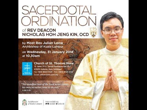 Sacerdotal Ordination of Rev Deacon Nicholas Hoh