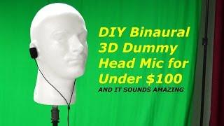 DIY 3D Binaural Microphone Dummy Head for Under $100 - The Show Show - Episode 1