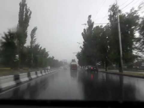 Rainy day in Yerevan, Armenia