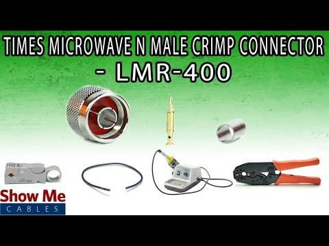Times Microwave N Male Crimp Connector For LMR-400 - Perfect For DIY Installs!