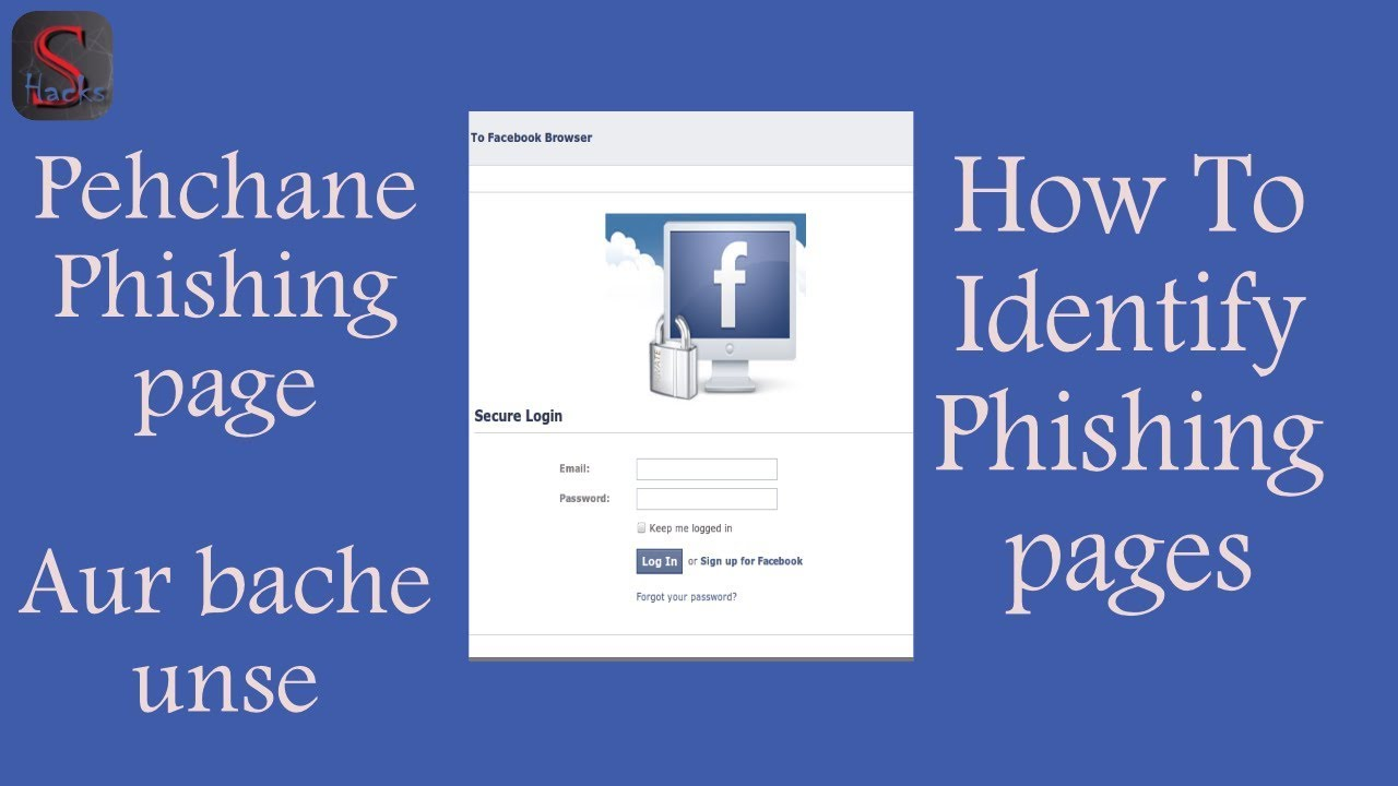 identify a phishing page, phishing page, how to identify a phishing page.