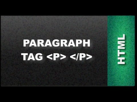 HTML Web Design Tutorials - Paragraph HTML Tag Lesson 4