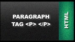 HTML Web Design Tutorials - Paragraph HTML tag Lesson 4