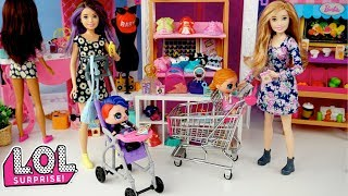 Barbie Sisters Babysitting L.O.L Surprise Confetti Dolls - Barbie Shopping Mall