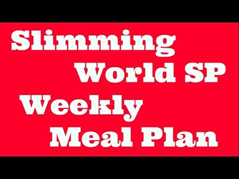 Slimming world weekly menu planner sw extra easy sp plan youtube New slimming world plan