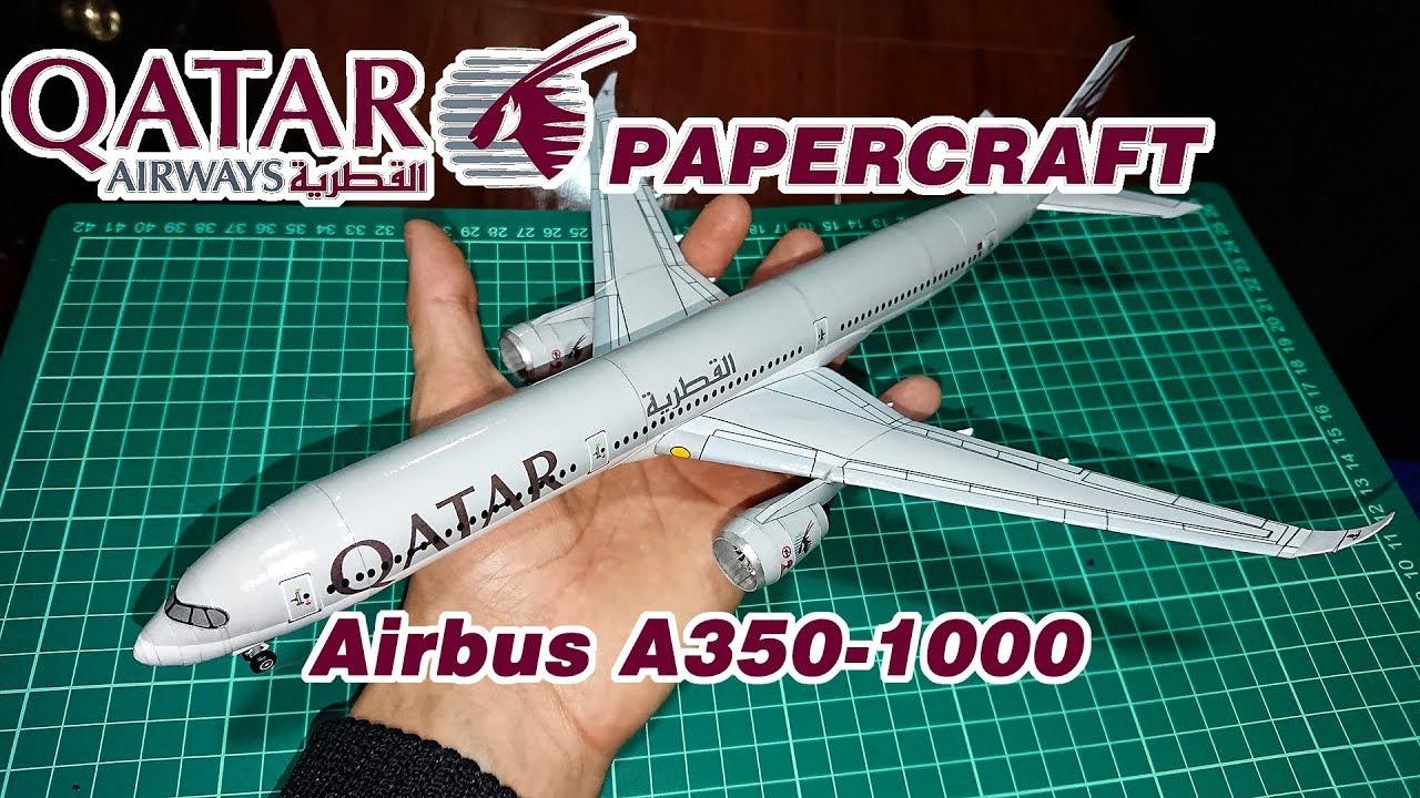 Qatar Airways Airbus A350-1000 Papercraft-Paper model