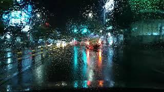 비 내리는 밤 추상화같은 풍경보며 드라이브?