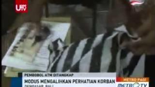 Pembobol ATM Ditangkap Di Denpasar Bali