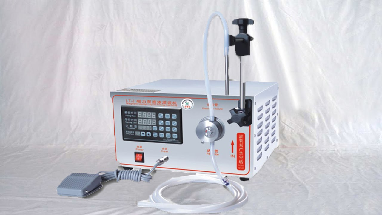 Glass bottles essential oil filling machine semi auto magnetic pump filler  equipment آلة ملء السائلة