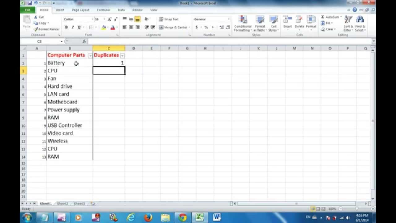 Delete Duplicates Excel 2003