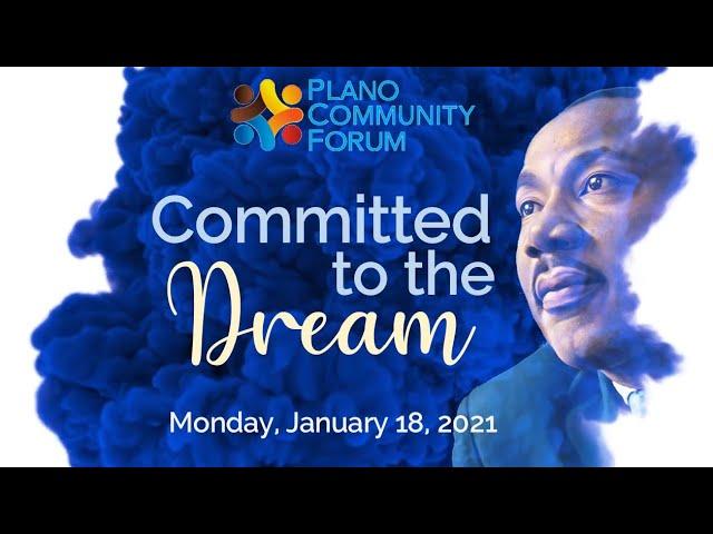 Plano Community Forum: 2021 MLK Day Celebration