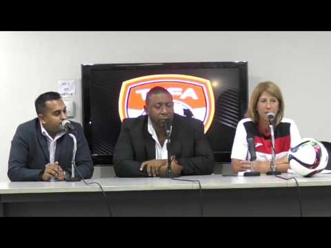 Carolina Morace and Staff unveiled at TTFA Press Conference