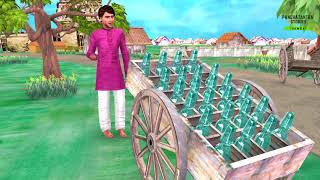 Greedy SODA WALA Hindi Kahaniya - Bedtime Moral Stories  - 3D Fairy Tales in Hindi