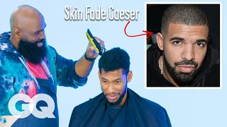Drake's Skin Fade Caesar Haircut Recreated by a Master Barber | GQ