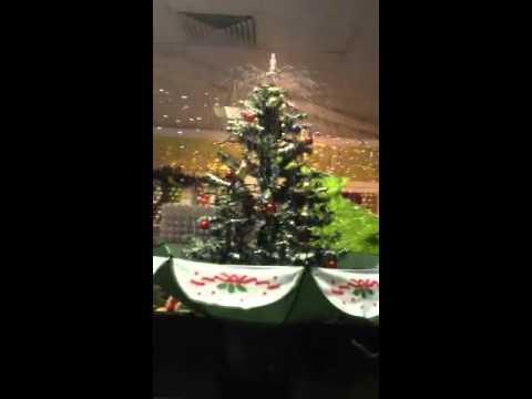 Snowing Christmas Tree In Umbrella Youtube