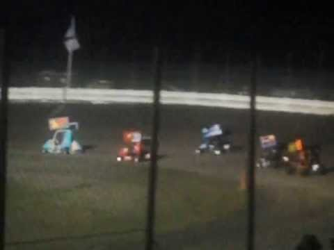 7/19/13 English Creek Speedway Jr Outlaw Wing Feature-restart
