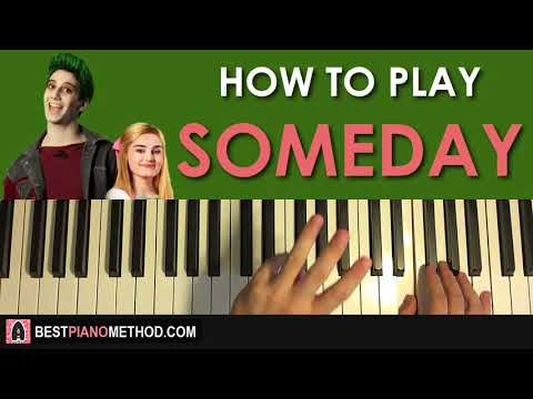 HOW TO PLAY - Disney's Zombies - Someday (Piano Tutorial Lesson)