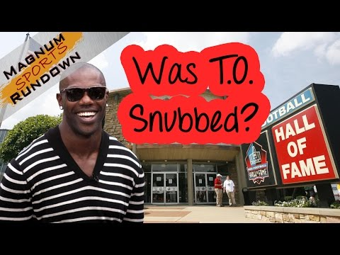 Terrell Owens snubbed by Hall of Fame voters || MSR