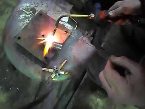 Сравнение горелки на MAPP газе и кислород-пропановой горелки .