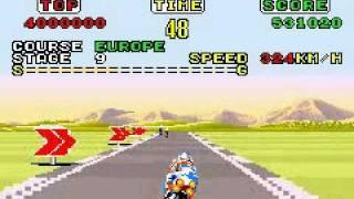 Sega Arcade Gallery (GBA) - Super Hang On (Europe Course)