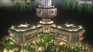 Minecraft: How To Build the Ultimate Underwater Base Tutorial (#20) | 마인크래프트 건축, 수중 기지, 인테리어