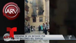 Drama por personas atrapadas en un edificio incendiado | Al Rojo Vivo | Telemundo
