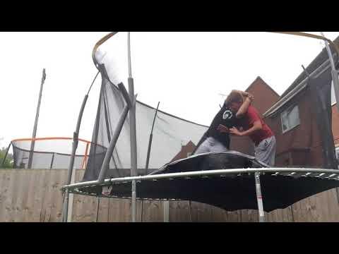 Hilarious WWE Finishers on Trampoline