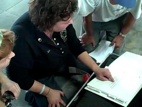 Michelle Noordhof delivering mobile laboratory to Port au Prince