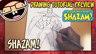 [PREVIEW] How to Draw SHAZAM! (Classic Comic Version) | Tutorial Time Lapse