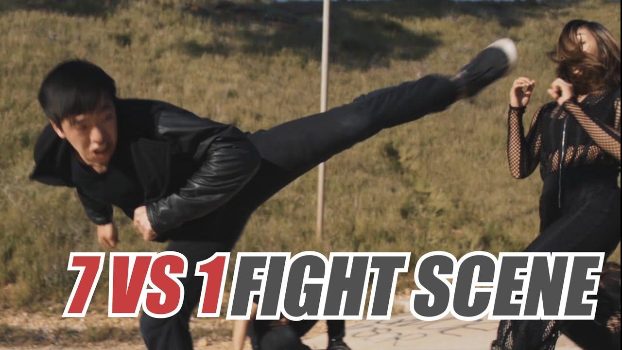 7 vs 1 girl - Martial Arts Action Scene