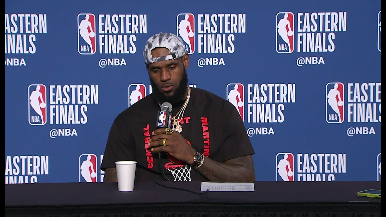 07ebd719c2a LeBron James Postgame Interview - Game 6