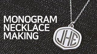 은공예 이니셜 목걸이 만들기 Monogram Neckl…