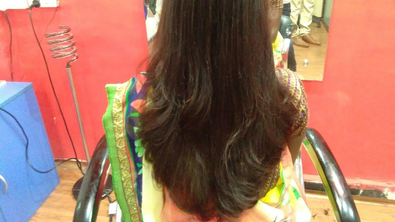 Long Hairs Deep U Haircut In Step By Step 2018 Youtube