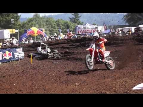 Pro Motocross riders (Dungey & Villopoto +) cornering, 20% slow motion video
