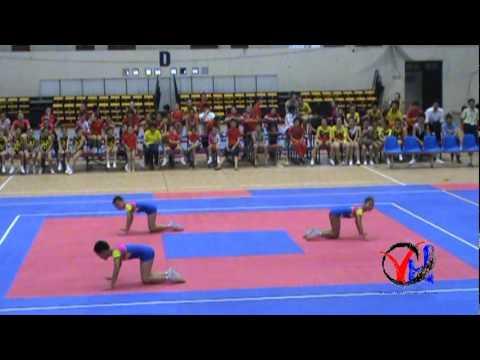 Aerobic   5  Vinh Phuc   Tu chon 3 nguoi Cap 1 4 5   HKPD KVII 2012