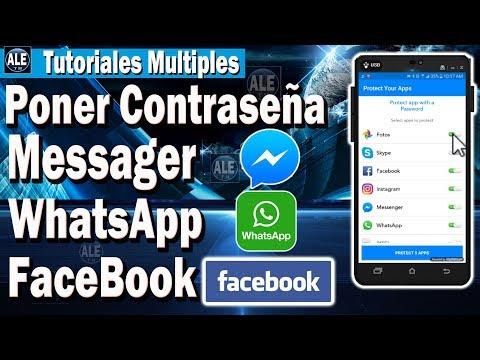 Como Poner Contraseña a Messenger - Whatsapp - Facebook - Fotos y a Mas Aplicaciones
