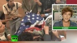 Протесты против США охватывают мир