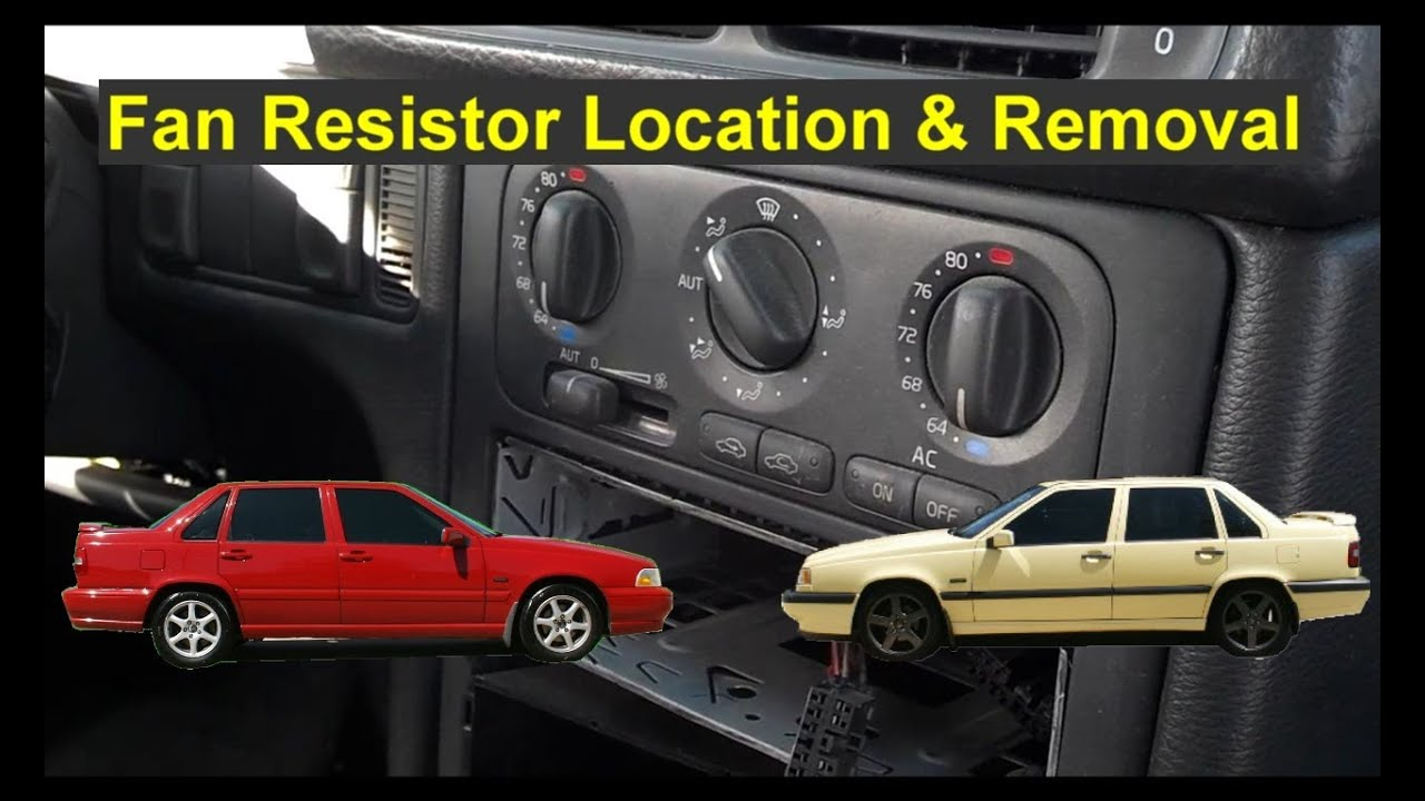 Fan Motor Only Works On High Resistor Location And Removal Auto Tips 1996 Volvo 850 Wiring Diagrams Repair Series Youtube