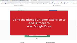 Step 2: Using the Bitmoji Chrome Extension & Saving to Google Drive