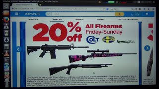 Walmart Black Friday Sale 2014 - 20% off on firearms - HD