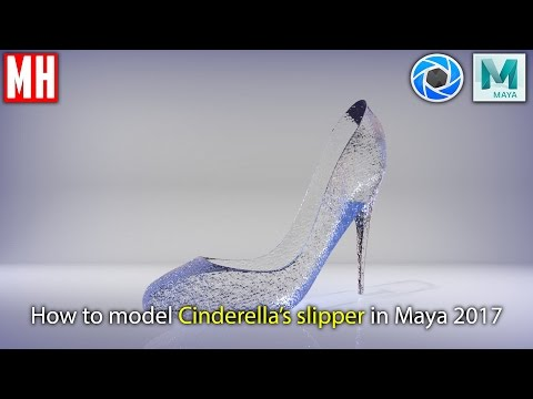 How to model Cinderella's Glass Slipper in Maya 2017