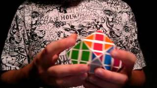 R3: Rhombic Dodecahedron Cross Cube (custom twisty puzzle)