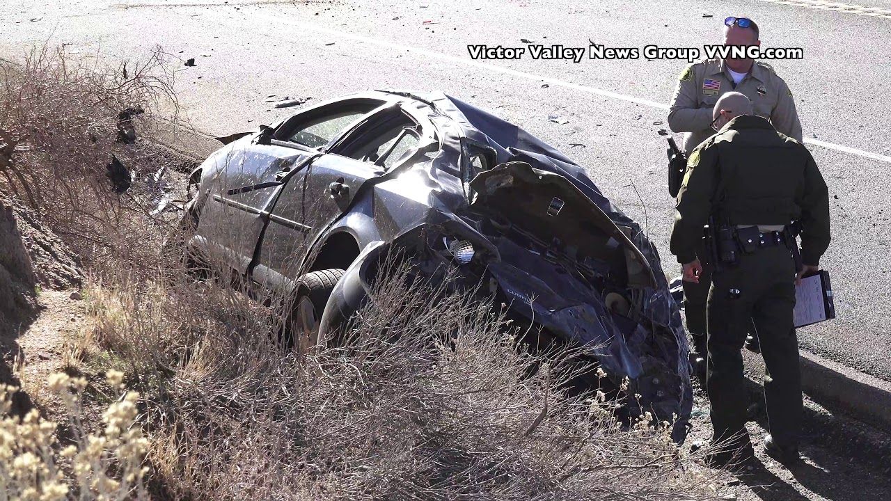 19-year-old woman ejected in crash on Highway 395 in Hesperia